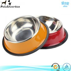 Non-Skid Easy Feed High Back Pet Bowl For Dog Or cat