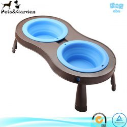 Double Bowl Collapsable Elevated Pet Feeder