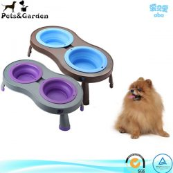 Pets Double Elevated Pet Feeder