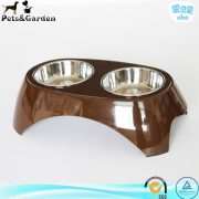 Elevated Collapsible Double Pet Feeder Bowl