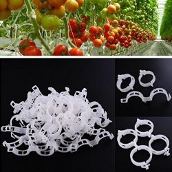 Durable Crop Clips Garden Trellis Clips for Vine Vegetables,Tomatoes,Cucumbers